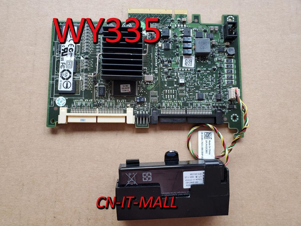 Pulled PERC 6I WY335 SAS Raid Card With Battery