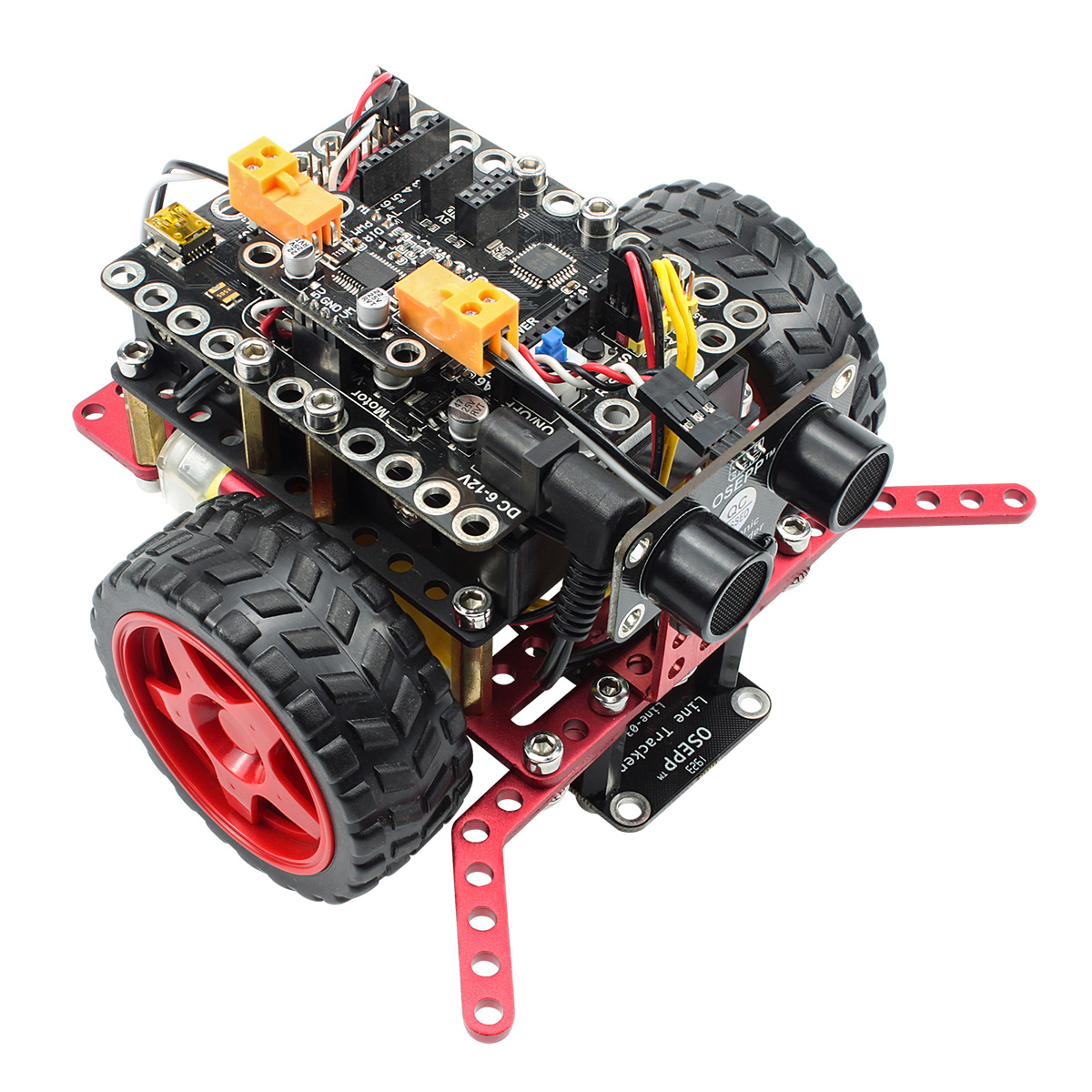 RoboPro Robotic Basics Kit For Arduino Line Tracker Obstacle Avoidance Sumo drag drop Programming Educational Stem