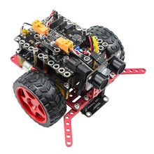 RoboPro Robotic Basics Kit For Arduino Line Tracker Obstacle Avoidance Sumo drag drop Programming Educational Stem