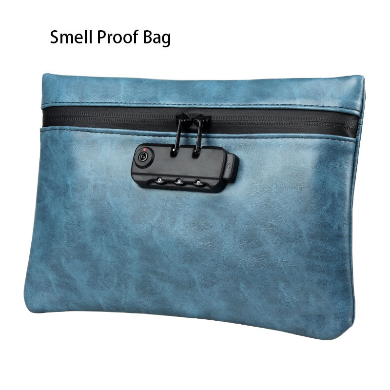 Smell Proof Bag Travel Portable Storage Bag Stash Box With Password Lock Activated Carbon Odor Isolation Bag Deodorant Bag