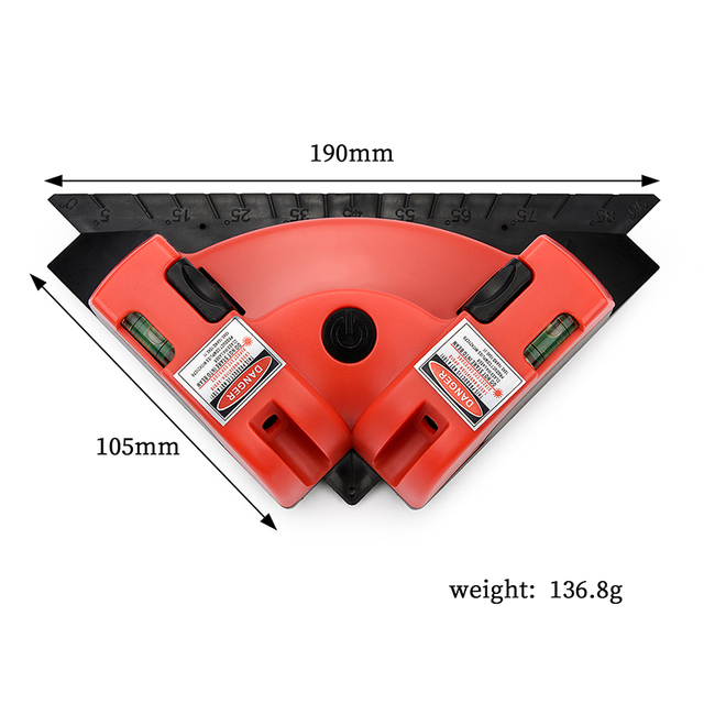 90 graden Vierkante Heerser Laser Niveau Mini Verticale Laser-Lijn Projectie Meter Nivel Laser Level Meten Meter Niveau Instrument