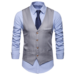 waistcoat for men Wedding vest men 2019 New Mens Vests Gentleman Social Mens Vest Party Gilet Square 7895