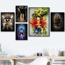 Eiichiro Oda Ein Stück Luffy Zoro Ace Shanks Comic Poster Und Drucke Wand Kunst Leinwand Malerei Wand Bilder Kinder Zimmer decor
