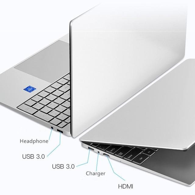 Intel Laptop 15.6 inch Windows 10 Pro 1920*1080 Cheap Portable Laptop Ram 12GB Rom 128GB SSD 500GB 1TB HDD HDMI Port Notebook 3