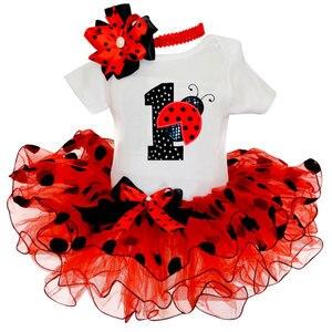 Костюм для девочек с единорогом на первый день рождения, костюм для новорожденных, платья для маленьких девочек, одежда-пачка, летние Праздн...