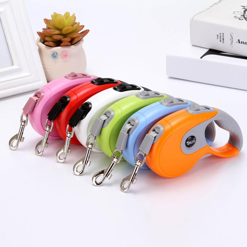 Automatic Flexible Tractor Dog Hand Holding Rope Dog Rope Bag Plastic Anti-slip Dog Traction Belt