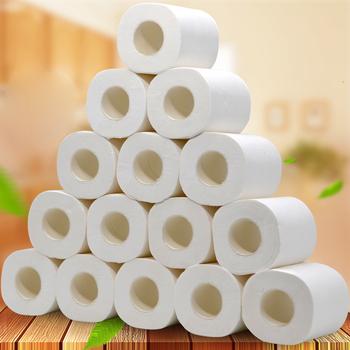 1 sztuk papier toaletowy papier do kąpieli w domu papier do kąpieli papier toaletowy papier 4 warstwy przyjazny dla skóry rodzimych drewna wc masa papierowa papier zwijany tanie i dobre opinie PUTIMI 3 ply about 10cm*12cm Mieszać ścier drzewny toilet paper 100g Toilet Paper Roll Rolling Raper Toilet Tissue Paper