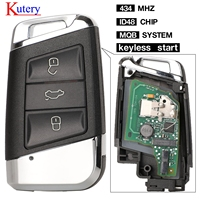 Kutery Smart Remote Key keyless start 폭스 바겐 폭스 바겐 Magotan B8 Superb A7 Passat Variant 434-2015 교체 용 2019 MHz FOB