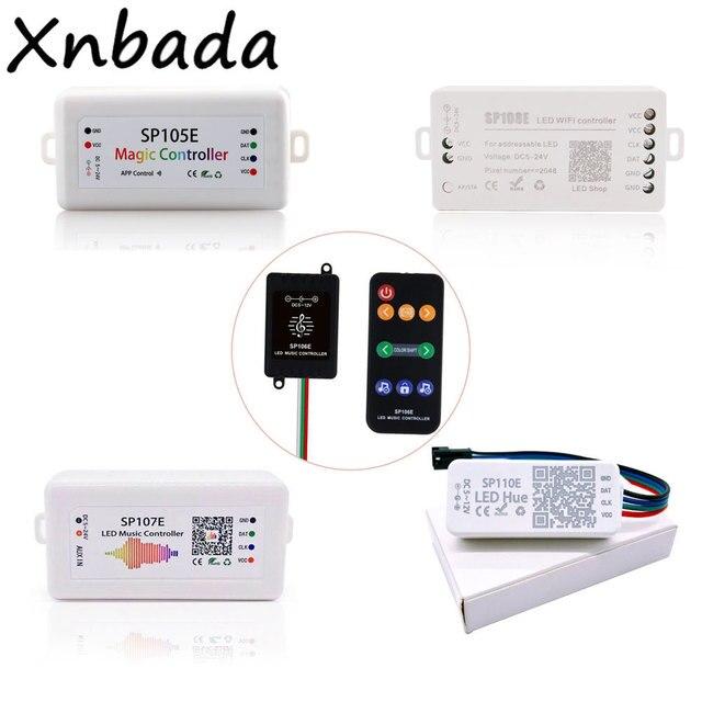 LedストリップライトコントローラSP105E/SP106E/SP107E/SP108E/SP110EためWS2812 SK6812 WS2811 WS2813 WS2815マジックledテープ