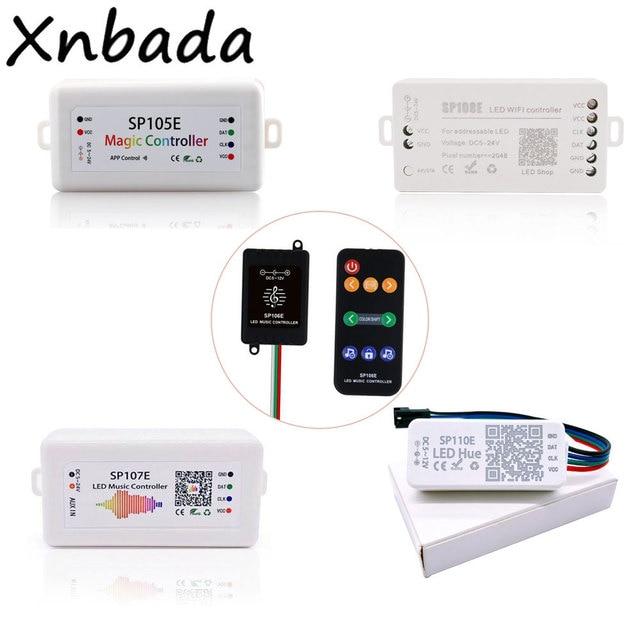 Led Strip Light Controller SP105E/SP106E/SP107E/SP108E/SP110EสำหรับWS2812 SK6812 WS2811 WS2813 WS2815 Magic ledเทป
