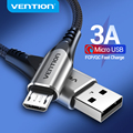 Vention Micro USB Cable 3A Nylon Fast Charger USB Type C Data Cable for Samsung Xiaomi LG Android Micro USB Mobile Phone Cables