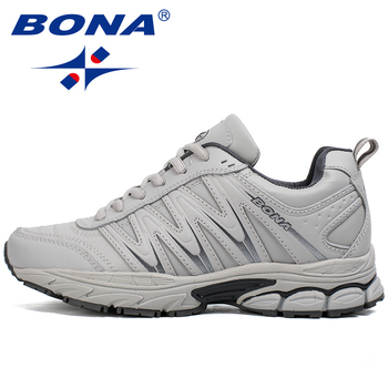 BONA 2019 New Designers Casual Shoes Men Style Cow Split Sneakers Male Lightweight  Outdoor Fashion Footwear Man Trendy Comfy 2