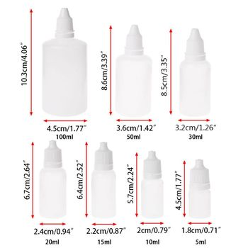 5-100ml Empty Plastic Squeezable Dropper Bottles Eye Liquid Dropper Container 28GA image