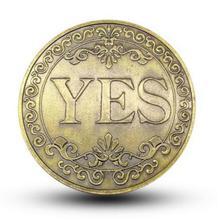 Sí o No moneda conmemorativa de recuerdo de desafío coleccionable monedas Colección Arte artesanal