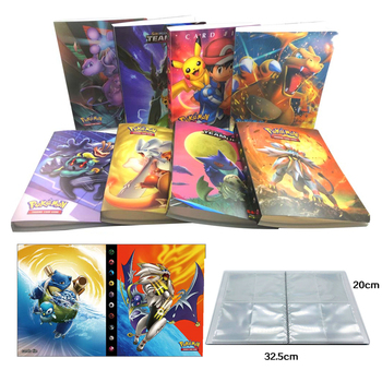 Cartoon Anime 240Pcs Holder Album Toy Monsters Cards Album Book Collection Game Pokemones Cards Album Book Top for Kids Gift