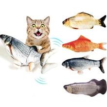 1pc gato agitando catnip brinquedo 28cm dança em movimento floppy peixes gatos brinquedo de carregamento usb simulação gato brinquedo eletrônico do gato de estimação brinquedo