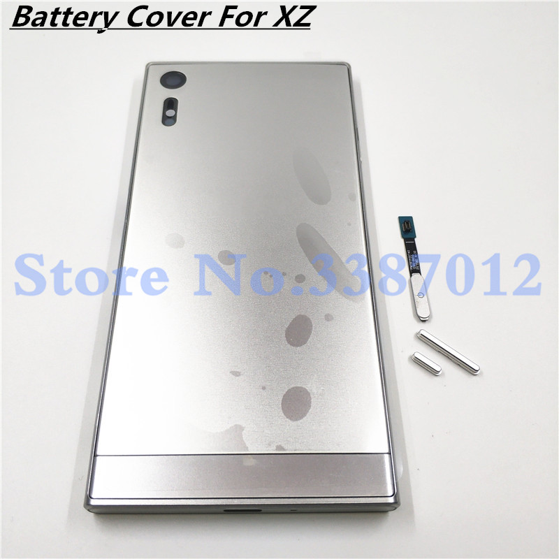 Battery Cover For Sony Xperia XZ F8332 F8331 Housing Back Cover Door 5.2 Inch Metal Frame With Logo