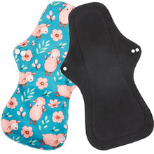 1pc heavy Flow Women Reusable Menstrual Pads Waterproof Hygienic pads washable sanitary pads with wings 18.5*32.5cm