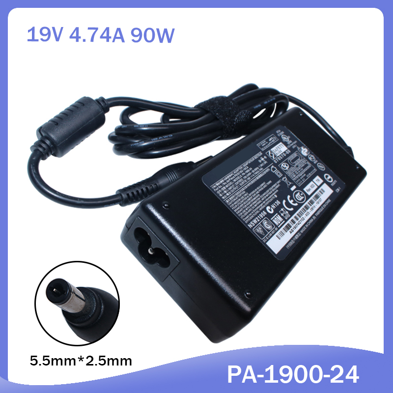 19V 4.74A 5.5*2.5mm AC Laptop Power Adapter  For Asus TOSHIBA ADP-90SB BB PA-1900-24 PA-1900-04 Power Supply Charger