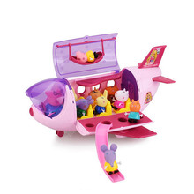 Peppa Pig toys George pepa pig family set daddy maddy Luxury aircraftchildrens toy gift peppa house birthday