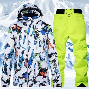 2020 New Winter Ski Suit Warm Windproof Snowboard Jacket Men Waterproof Outdoor Sports Snow Jackets and Pants Skiing Clothes trvlwego outdoor ski suit men s windproof waterproof thermal snowboard snow skiing jacket and pants sets winter sports clothes