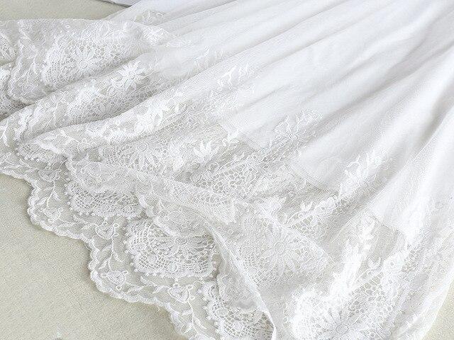 Dentelle gaze Slip robe femmes été longue mousseline de soie crochet fleur évider sous-jupe douce robe de fond pleine Slip sous-robe