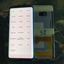 Tem grande linha e queimar e pixels lcd, para samsung galaxy s8 g950 g950f display lcd touch screen digitizer