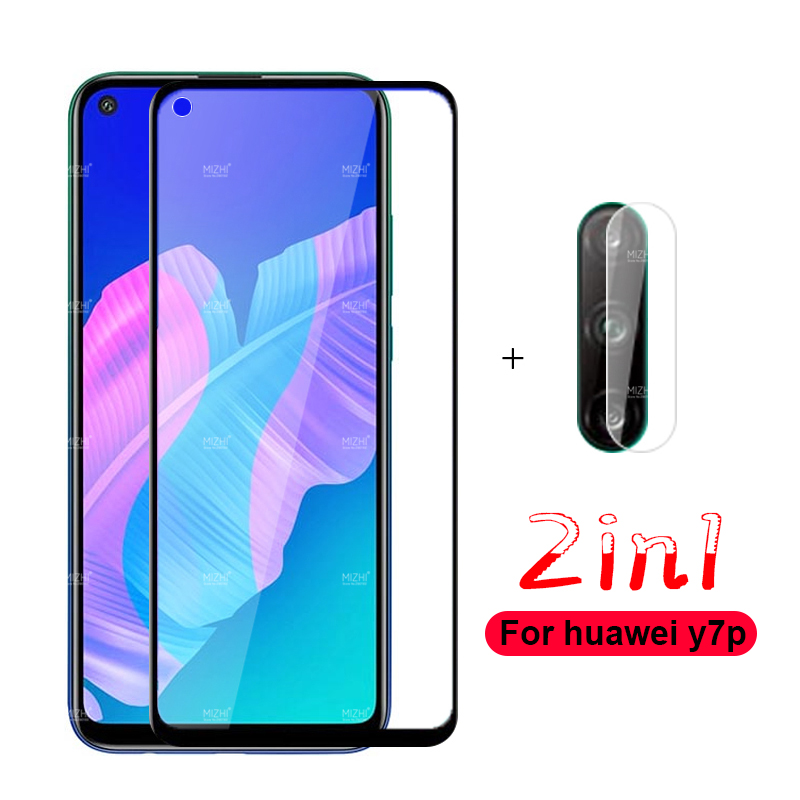 2 In 1 Protective Glass For Huawei Y7p Camera Lens Screen Protector Tempered Glas For Huawei Y7p Y7 P Y 7p ART-L28 ART-L29 Film