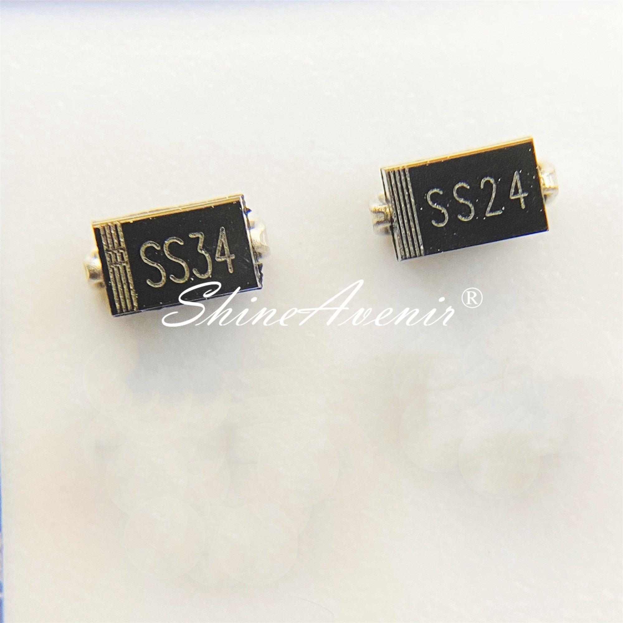 50 шт./лот диод Шоттки SS56 SS54 SS52 SS36 SS34 SS32 SS26 SS24 SS23 SS22 SS18 SS16 SS15 SS14 SS13 SS12 SMA DO-214AC оригинал