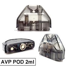 Vmiss 2 sztuk pudło AVP Pod 2ml wkład do e-papierosa z 1 2ohm bawełna 1 3ohm ACC ceramiczne 0 6ohm cewka z siatką Atomizer do elektronicznego papierosa tanie tanio avp Cartridge Z tworzywa sztucznego Wymienne avp Pod Kit