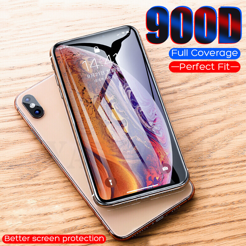 900D Full Cover Tempered Glass The For IPhone 11 Pro X XS Max XR  Protective Glass On For IPhone 7 8 6 6S Plus Screen Protector