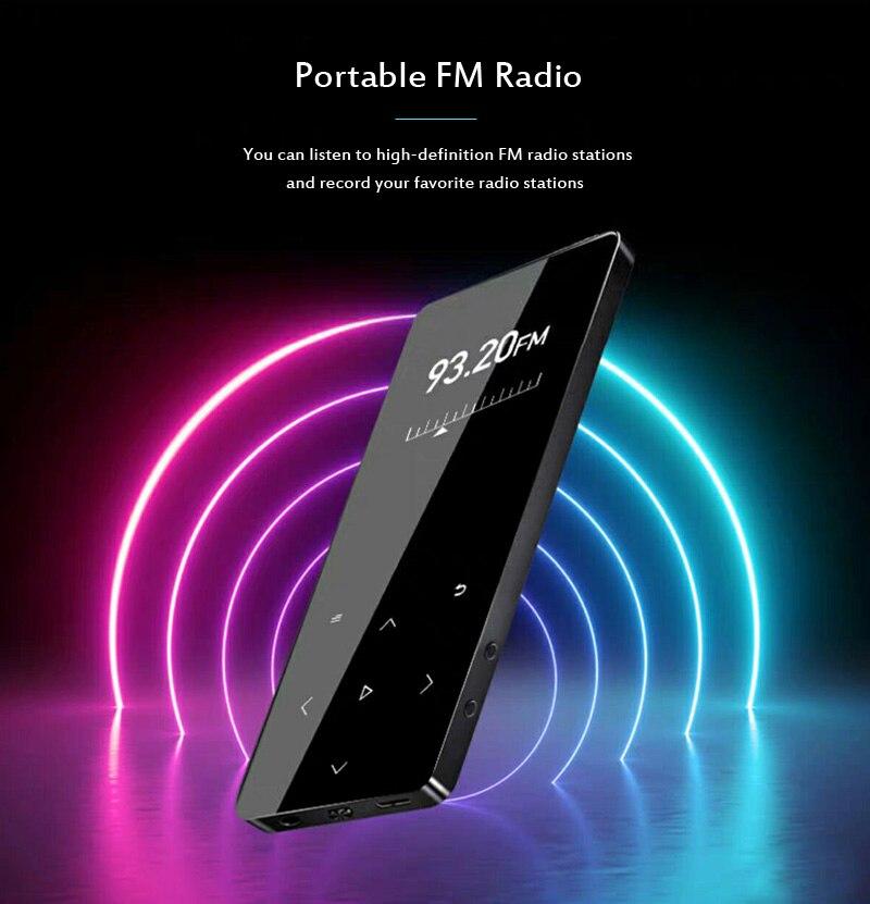 MP4 Speler Met Bluetooth Speaker Touch Key Ingebouwde 8Gb 16Gb Hifi Draagbare Walkman Met Fm Radio opname Muziekspeler 4