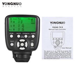 Image 5 - YONGNUO YN560 TX II اللاسلكية فلاش الزناد تحكم Trasmitter ل Yongnuo YN 560III YN560IV RF 602 RF 603 II لكانون نيكون