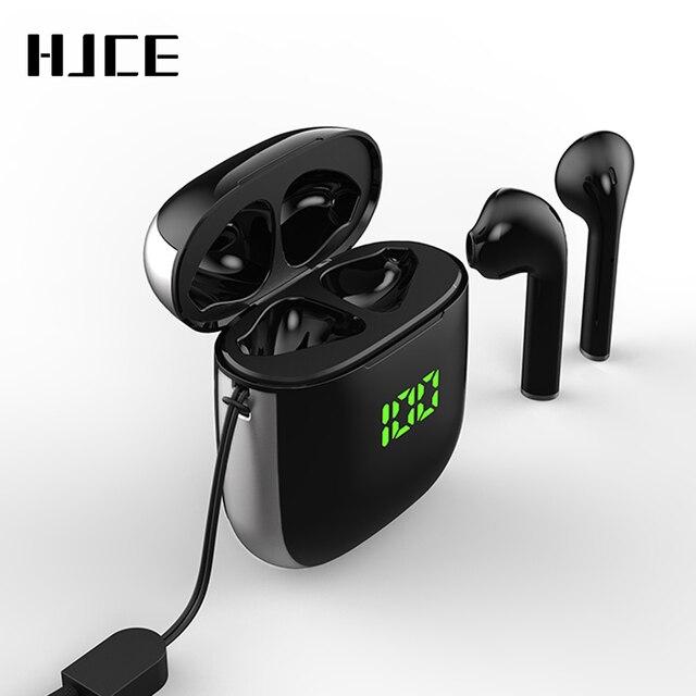 TWS Bluetooth 5.0 Earphones LED Display Mini Earbuds QI Wireless Charging Box Binaural HD Call Earbuds IPX5 Waterproof