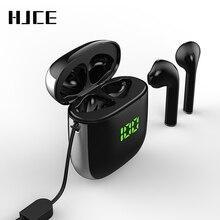 TWS Bluetooth 5.0 אוזניות LED תצוגת מיני אוזניות QI טעינה אלחוטי תיבת Binaural HD שיחת אוזניות IPX5 עמיד למים