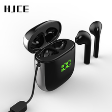 TWS Bluetooth 5.0 kulaklık LED ekran Mini kulaklık QI kablosuz şarj kutusu Binaural HD çağrı kulakiçi IPX5 su geçirmez