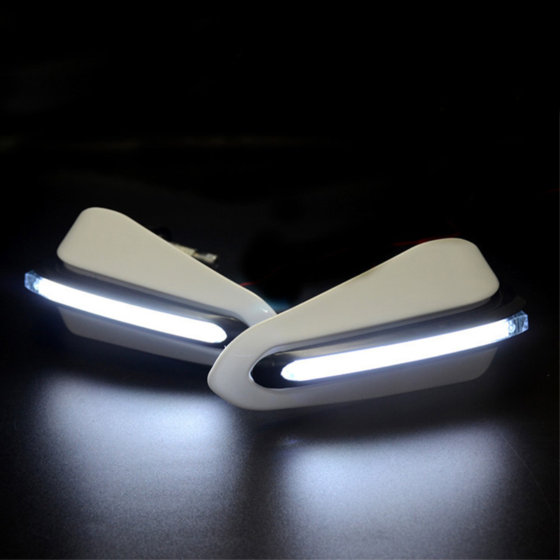 Motorcycle Handguards Hand Guards with LED Light For <font><b>honda</b></font> cb750 <font><b>cbr</b></font> <font><b>600f</b></font> <font><b>cbr</b></font> 125r vtx 1800 vlx grom msx125 cbr1000rr cb650f image