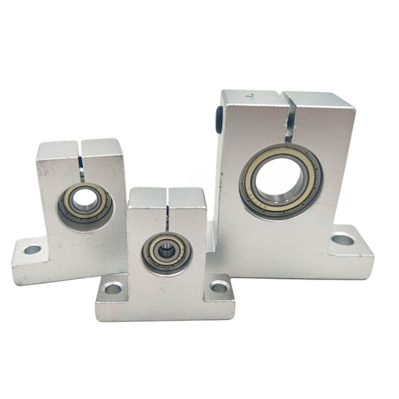 Aluminum Alloy 8mm//10mm Hole Diameter Linear Rail Shaft Guide Support Mount