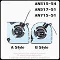 Запасная деталь для ноутбука ACER Nitro 5 AN515-54 / AN517-51 / Nitro 7 AN715-51 вентилятор охлаждения процессора