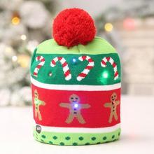 Рождественская шляпа с легким мягким теплым «Рассвет Справедливости» Пряничный человек печать рождественские шапки Лыжная вязаная шапочка Дети Взрослые