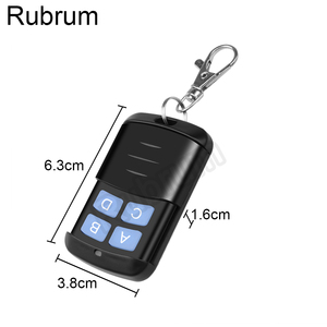 Image 3 - Rubrum 433 MHz DC 12V 1CH RF Remote Control Transmitter + Universal RF Relay Receiver Module For Light Garage Door Opener Key