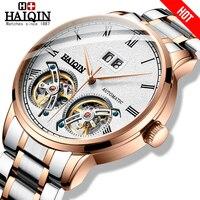 HAIQIN 남자 시계 남자 시계 톱 브랜드 럭셔리 자동 기계 스포츠 시계 남자 wirstwatch Tourbillon Reloj hombres 2020|기계식 시계|시계 -