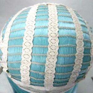 Image 5 - Парик для косплея HAIRJOY Lol Jinx длиной 100 см, синий с двойными косами, парик для костюма на Хэллоуин из термостойких синтетических волос