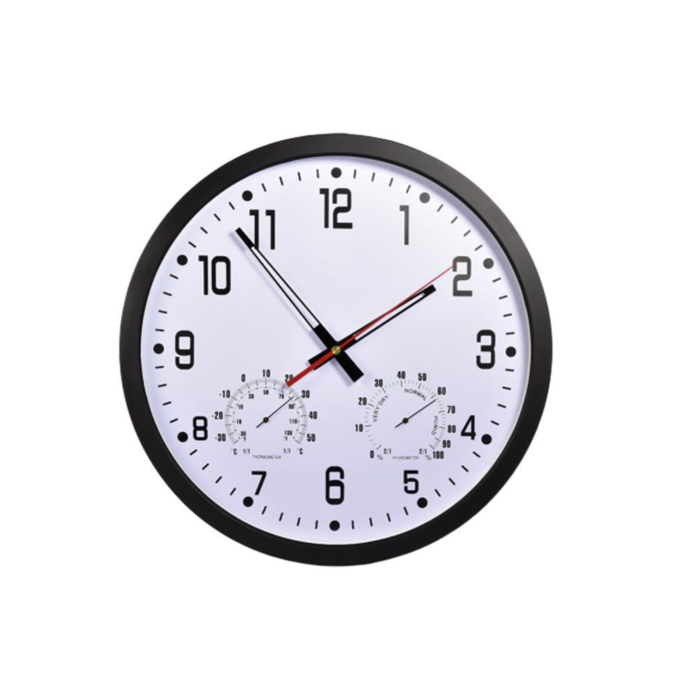 14 inch Simple Silent Wall Clock Quartz Clock Movement Thermometer Hygrometer No ticking DIY Watch Wall Clock Home Art Decor-in Wall Clocks from Home & Garden on AliExpress - 11.11_Double 11_Singles' Day 1