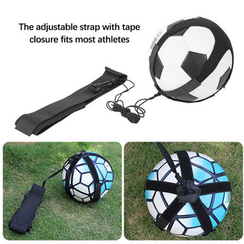 Football Kick Solo Trainer Belt Adjustable Swing Bandage Control Soccer Training Aid Equipment Waist Belt Skills Soccer Practice soccer ball juggle bags children auxiliary circling belt kids football training equipment kick solo soccer trainer