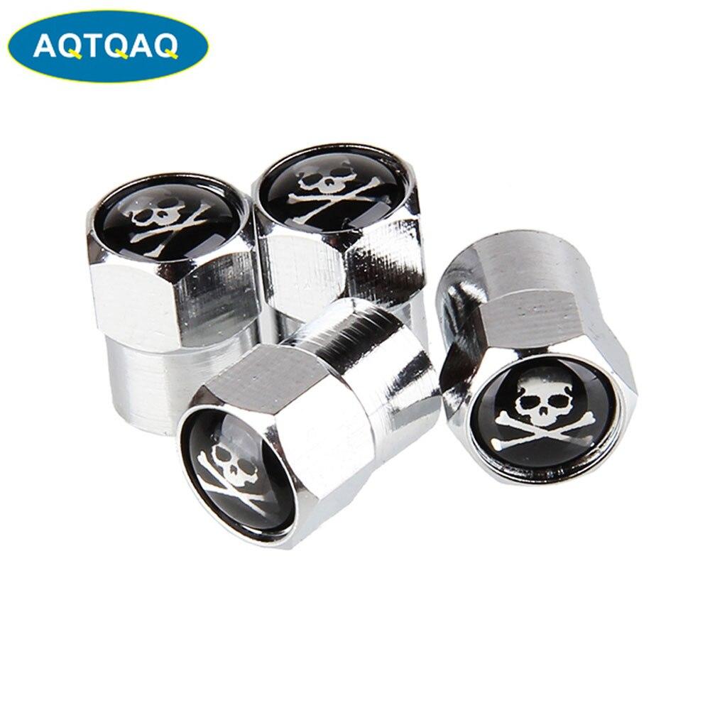 Volvo Coche de metal cromado v/álvula de rueda de Polvo Cap