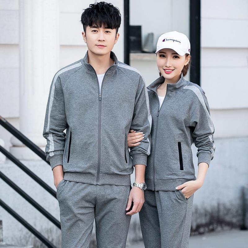 Wu Jian Dao 2019 Autumn Korean-style Fashion Men's Casual Students Sportswear Running Fitness Couples Men And Women Set