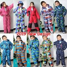 Зимние Детские Лыжные комбинезоны комплект теплой одежды для мальчиков 3, 4, 5, 6, 7 лет, водонепроницаемые уличные спортивные костюмы для сноуборда для девочек детская одежда