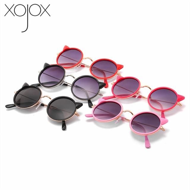 Gafas de sol XojoX Oreja de Gato para niños, gafas redondas bonitas de dibujos animados para niños, gafas para exteriores UV400