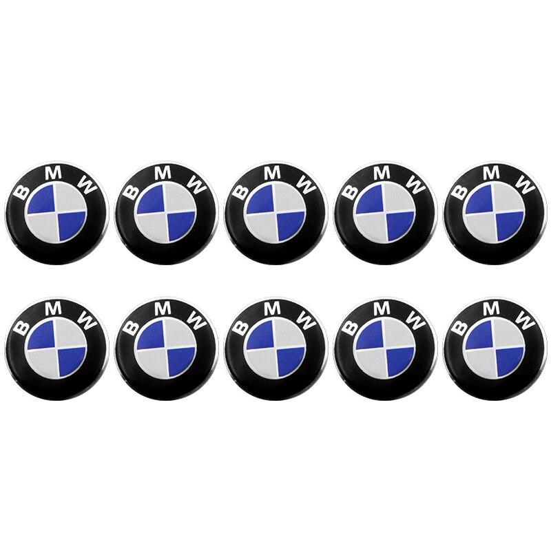 10PCS 14mm Car Key Sticker Car Badge Emblem Decoration Sticker For Bmw E46 E90 E60 E39 F30 E36 F10 F20 E87 E92 E30 E34 X1 X3 X5
